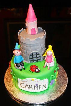 ARTE EN MI COCINA: EL PEQUEÑO REINO DE BEN & HOLLY...... Para Carmen!... Ben Y Holly, Birthday Cake, Desserts, Food, World, Pies, Fiestas, Cooking, Tailgate Desserts