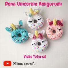 patrón gratis dona unicornio amigurumi