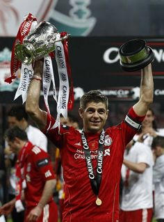 Captain Fantastic, Steven Gerrard with the Cup