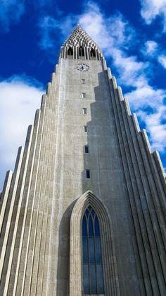 The modern architecture of Hallgrimskirkja Church in Reykjavik, Iceland;,one of my favorite photos of 2015. www.casualtravelist.com
