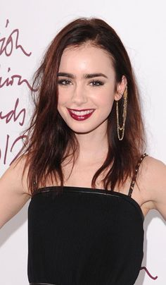 Lily Collins, Top 10 Red Hairstyles of 2012