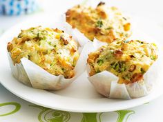 These tasty savoury muffins make a brilliant after school snack, or light lunchbox filler. The combination of fresh zucchini, sweet corn and salty cheddar works perfectly together to create these moorish treats.