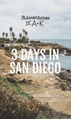 3 Days in San Diego Itinerary San Diego Vacation, San Diego Travel, San Diego Trip, Shopping In San Diego, San Diego Hotels, La Jolla San Diego, San Diego Beach, Beaches In San Diego, Pacific Beach San Diego