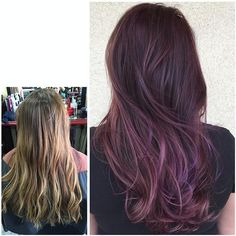 Great transformation! hairapydoll filled her base with #KenraColor 4RR + 5RV and a ribbon of Violet Booster. Balayaged ends with Lightener + 20vol. Overlaid 3 formulations of #KenraColorCreative using Blue, Magenta, and Red.