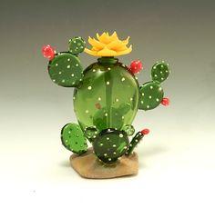 Cactus Perfume Bottle by Garrett Keisling: Art Glass Perfume Bottle available at www.artfulhome.com
