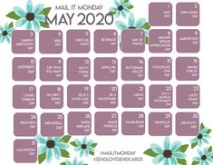 Inspiration calendar for cardmakers ... May 2020 ... from For the Love of Paper Card Making Tips, Appreciation, Calendar, Paper Crafts, Scrapbook, Cards, Inspiration, Biblical Inspiration, Tissue Paper Crafts
