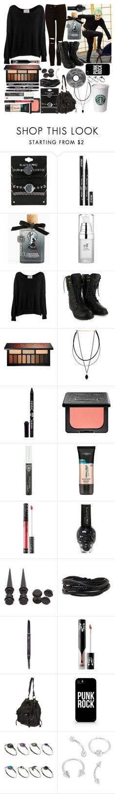 """""""Every night that we spend alone, it kills me thinking of you on your own, and I wish I was back home next to you"""" by thelyricsmatter ❤ liked on Polyvore featuring Kat Von D, Torrid, e.l.f., Friendly Hunting, Anna Sui, L'Oréal Paris, Gioelli, Anastasia Beverly Hills, Samsung and ASOS"""
