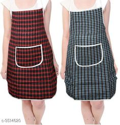 Aprons  Classy Stylish Cotton Apron ( Pack Of 2) Material:  Cotton Size: 50 in Length : Up To 27 in  Description: It Has 2 Pieces Of Aprons  Pattern: Checkered Sizes Available: Free Size *Proof of Safe Delivery! Click to know on Safety Standards of Delivery Partners- https://ltl.sh/y_nZrAV3  Catalog Rating: ★4 (7218)  Catalog Name: Free Mask Classy Stylish Cotton Apron Vol 4 CatalogID_489261 C129-SC1633 Code: 361-3514620-
