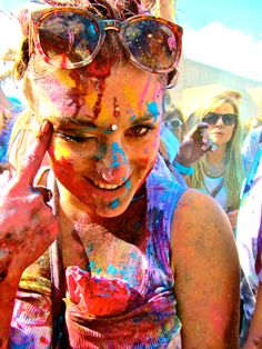 London-Holi festival in #India. Photo by Jessie Norman