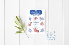 Greek Fish Shop Postcard - A Hue of Greek Blue