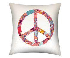 Almofada peace and love - 45x45cm