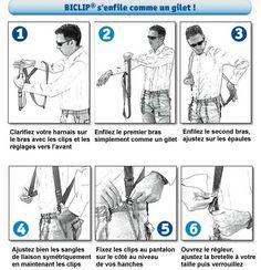 Bretelles Biclip harnais pour femme enceinte