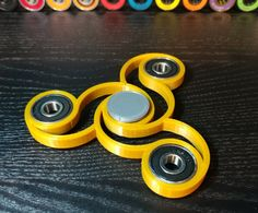 Solid golden Tri EDC Spinner. Put your fingers through the spinner to stop it. Could be a transformer... Check out our super awesome Dizzy Spinners at www.dizzyspinners.com. Perfect for fidgety hands- The dizzy spinner can get up to a 3+min very smooth and satisfying spin time. Keep your hands busy and your mind clear. Fast delivery and ultimate satisfaction. You will love it.... #dizzyspinners #fidgetspinners #spinninginparadise #adhdtoys