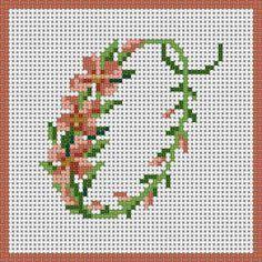 Floral Alphabet - O