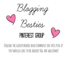 Want to join the group? Make sure you follow this board and comment below! All bloggers are welcome, but any inappropriate content can and will be removed. THANKS! Link to group: http://www.pinterest.com/sydneyluella/blogging-besties/