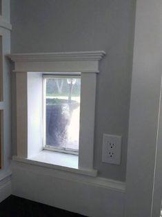 Wood Painted Molding Trim Doggy Door Home Design - Annett Huber Diy Doggie Door, Moldings And Trim, House Design, Door Design