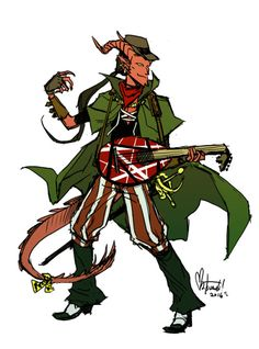 """space-coyote: """"I played Dungeons & Dragons for the first time last year (5th edition). This is my dumb PUA tiefling bard, Edward. His feats include assuming he's charming enough to chat up a dragon and ruining a quest by negging a banshee."""""""