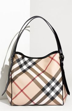 Burberry 'Nova Check' Tote available at #Nordstrom. I have wanted this purse FOREVER!! I have a birthday and christmas coming :)