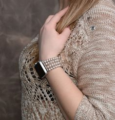Apple Watch Band, apple watch accessories 42mm, no clasp apple watch strap 38mm, silver lugs adapter, stretch fit iwatch band by RainbowAppleStudio on Etsy https://www.etsy.com/listing/486160468/apple-watch-band-apple-watch-accessories