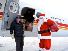 It's a Nunavik holiday tradition. Inuk bush pilot Johnny May of Kuujjuaq, Que., has been doing a Christmas candy drop every year for 50 years. Bush Pilot, Acadie, Christmas Candy, Holiday, Air Charter, Canada Goose Jackets, Winter Jackets, Drop, Vacations