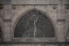 Jali or Jaali (perforated stone or latticed screen) Sidi Saiyyed Mosque, Ahmedabad