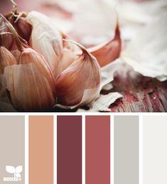 Alternate color palette idea: Garlic Tones: Fawny Taupe, Faded Peach, Deep Crimson, Dusty Brick Red, Grey and Gray White Colour Pallette, Color Palate, Colour Schemes, Color Combos, Color Patterns, Grey Palette, Bathroom Paint Colors, Bathroom Grey, Design Seeds