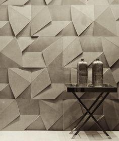 scandinaviancollectors: Origami wallpaper by Brazilian design company Castelatto. / Pinterest