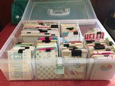 Mrs Crafty Adams | Organizing Project Life