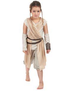 Disfraz Rey Deluxe Star Wars VII™ niño: Este disfraz de Rey para niña tiene licencia oficialStar Wars VII™. Incluye camiseta, mangas y pantalón (zapatos no incluidos). La camiseta es clara con dos bandas de tela...