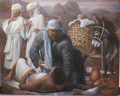 The Good Samaritan,by Keith Martin Johns Parables Of Jesus, Good Samaritan, The Brethren, Gods Grace, Gods Love, Original Paintings, Religion, Spirituality, Faith