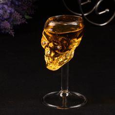 55ml Skull glass glass stein beer glass Vodka Whiskey Drinking hot sale popular design fashion party
