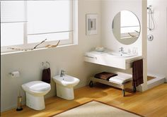 White Tiny Bathroom Design