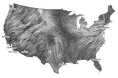 Built by Hint.Fm, it uses hourly forecasts from the National Forecast Database to give you an idea of how air is traveling across the United States at any given moment. It's incredible.