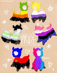 "antidotefortheawkward-art: "" More pride alpacas to celebrate Pride Month with! First batch "" Lgbt Quotes, Lgbt Memes, Pansexual Pride, Gay Aesthetic, Lgbt Love, Lgbt Community, Gay Art, Gay Pride, Cute Drawings"