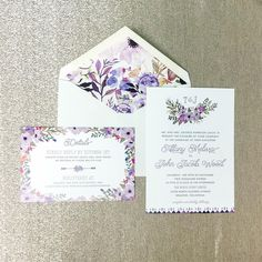 This splendid custom design turned out beautifully, we are loving the purple florals! Congrats to Mr. and Mrs. Wood, thank you for choosing Paper + More to be apart of your wedding day!  #papernmoreok #shoplocal #pnmbrides #bridesok #invitations