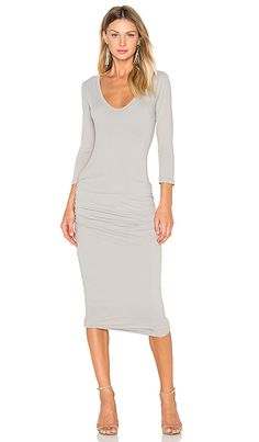 Shop for James Perse Classic V-Neck Skinny Dress in Dapple at REVOLVE. Free 2-3…