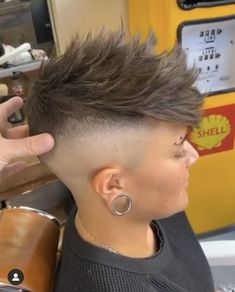 Fade Away, Bald Fade, Half Shaved, Short Cuts, Cut And Color, Shaving, Hair Cuts, Hairstyles, Lady