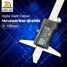 Buy depth vernier caliper micrometer 150 mm 6'' digital vernier caliper stainless steel digital electric digital depth gauge #depth #vernier #caliper #micrometer #digital #stainless #steel #electric #gauge