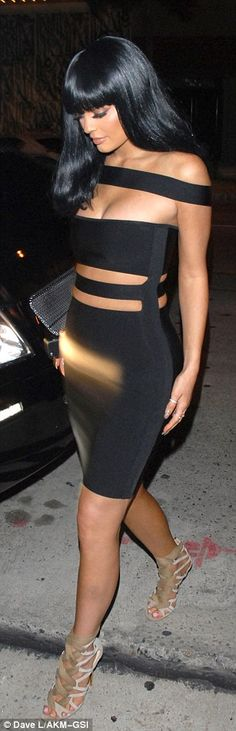Careful! The newly-turned 18-year-old made sure she avoided a wardrobe malfunction in her barely-there dress