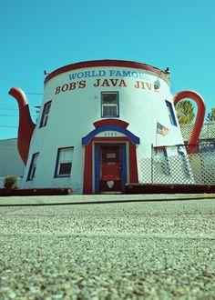 Bob's Java Jive ~ Tacoma Landmark. I go here often. My name is on the ceiling. I LOVE IT HERE. If you ever visit Tacoma, WA. you MUST visit Bob's Java Jive....