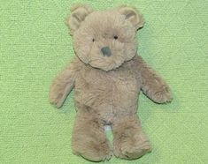 NWT Carters Brown Bear Plush Embroidered Foot Soft Stuffed Lovey Toy 66807
