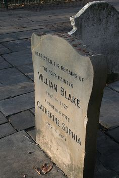 William Blake, Bunhill Burial Ground, London