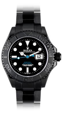 Bamford - rolex yachtmaster SaWeet! It's an aftermarket by Bamford and Sons and I don't know of any all black Rolex watches, but this is still an awesome look. Style, YES - Investment, not so much...