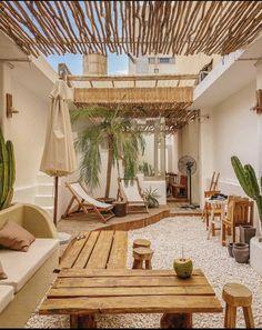 Outdoor Spaces, Outdoor Living, Outdoor Decor, Hawaii Homes, Space Interiors, Beach House Decor, Home Decor, Cafe Interior, Allotment
