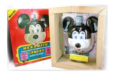 Walt Disney Mickey Mouse Camera, Mick-A-Matic 126 Camera – Rare and in Original Box w/ Accessories -Unused- Vintage Mickey, Retro Gift 1970s by VintageLostButFound on Etsy