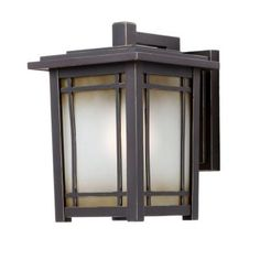 Hampton Bay Port Oxford Wall-Mount 1-Light Outdoor Oil-Rubbed Chestnut Lantern-HD492268 at The Home Depot