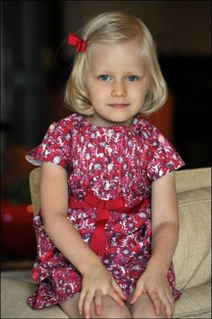 2013 photo of Princess Eleonore of Belgium, born in 2008.  Daughter and 4th child of King Phillipe and Queen Mathilde.