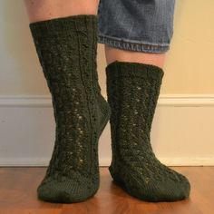 Leaves & Climbing Vines Socks (cuff down version), knit in Lang Yarns Jawoll Superwash.