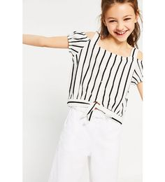 ZARA - KIDS - STRIPED T-SHIRT WITH KNOT