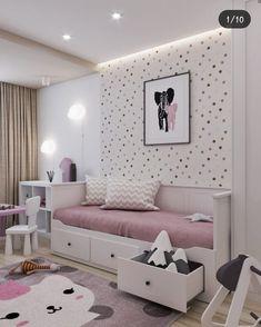 Design Studio Popis fotky nie je k dispozícii. Bedroom Decor For Small Rooms, Bed For Girls Room, Bedroom Decor For Teen Girls, Cute Bedroom Ideas, Little Girl Rooms, Baby Room Design, Home Room Design, Teen Bedroom Designs, Toddler Rooms